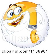 Cartoon Of A Happy Smiley Emoticon Shaving Its Face Royalty Free Vector Clipart