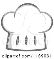 Cartoon Of A Gray And White Toque Chef Hat Royalty Free Vector Clipart by Hit Toon