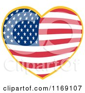 Heart With An American Flag