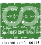 Seamless Green Hardware And Tool Icon Pattern
