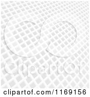 Clipart Of A 3d White Mosaic Grid Pattern Royalty Free Vector Illustration by elaineitalia
