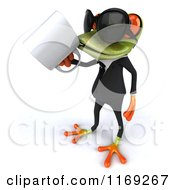 Clipart Of A Business Frog Wearing Sunglasses And Drinking Coffee Royalty Free CGI Illustration