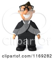 Clipart Of A 3d Business Toon Guy With Glasses Royalty Free CGI Illustration