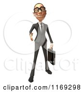 Clipart Of A 3d White Businessman Reaching Out To Shake Hands Royalty Free CGI Illustration