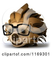 Clipart Of A 3d Hedgehog Wearing Glasses Royalty Free CGI Illustration by Julos