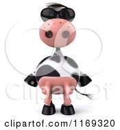Clipart Of A 3d Cow Wearing Sunglasses Royalty Free CGI Illustration