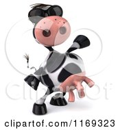 Clipart Of A 3d Happy Cow Wearing Sunglasses Royalty Free CGI Illustration