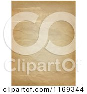 Clipart Of An Aged Crumpled Paper Background Royalty Free CGI Illustration