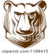 Clipart Of A Kodiak Bear Head 2 Royalty Free Vector Illustration