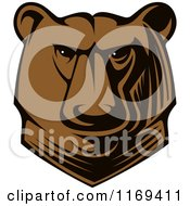 Clipart Of A Kodiak Bear Head Royalty Free Vector Illustration