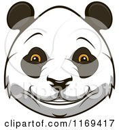 Clipart Of A Happy Giant Panda Face Royalty Free Vector Illustration by Vector Tradition SM