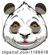 Clipart Of A Happy Giant Panda Face 2 Royalty Free Vector Illustration by Vector Tradition SM