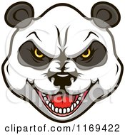 Clipart Of An Aggressive Giant Panda Face Royalty Free Vector Illustration by Vector Tradition SM
