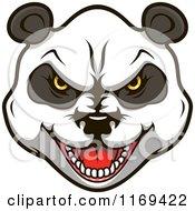 Aggressive Giant Panda Face