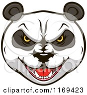 Clipart Of An Aggressive Giant Panda Face 2 Royalty Free Vector Illustration by Vector Tradition SM