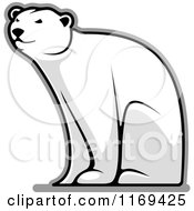 Clipart Of A Happy Polar Bear Bear Sitting Royalty Free Vector Illustration by Vector Tradition SM