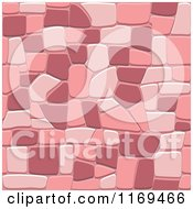 Clipart Of A Pink Seamless Stone Background Royalty Free Vector Illustration