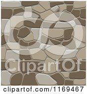 Clipart Of A Brown Seamless Stone Background Royalty Free Vector Illustration by Vector Tradition SM