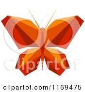 Clipart Of An Origami Butterfly Royalty Free Vector Illustration by Vector Tradition SM