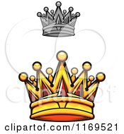 Clipart Of Crowns Adorned With Gems 2 Royalty Free Vector Illustration