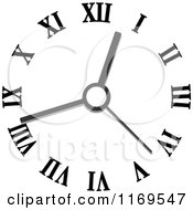 Clipart Of A Wall Clock 2 Royalty Free Vector Illustration