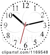 Clipart Of A Wall Clock 4 Royalty Free Vector Illustration