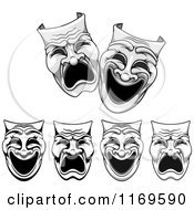 Clipart Of Comedy Drama Theater Masks Royalty Free Vector Illustration