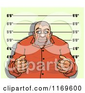 Clipart Of A Gangster Man Getting His Mugshot Taken Royalty Free Vector Illustration