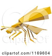 Clipart Of An Origami Wasp Royalty Free Vector Illustration by Vector Tradition SM
