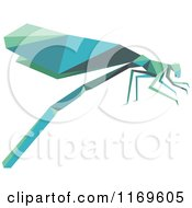 Clipart Of An Origami Dragonfly Royalty Free Vector Illustration by Vector Tradition SM
