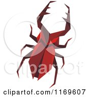 Clipart Of An Origami Stag Beetle Royalty Free Vector Illustration by Vector Tradition SM