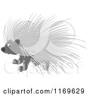 Cartoon Of A Cute Baby Porcupine With Blue Eyes Royalty Free Vector Clipart by Alex Bannykh