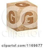 Clipart Of A Brown Grungy Letter G Cube Royalty Free Vector Illustration