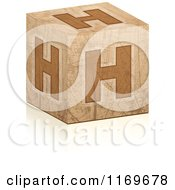 Clipart Of A Brown Grungy Letter H Cube Royalty Free Vector Illustration