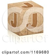 Clipart Of A Brown Grungy Letter J Cube Royalty Free Vector Illustration