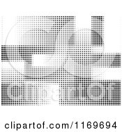 Clipart Of A Black And White Halftone Dot Background Royalty Free Vector Illustration