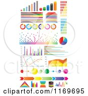 Clipart Of Colorful Informational Statistic Graphics Royalty Free Vector Illustration by Andrei Marincas