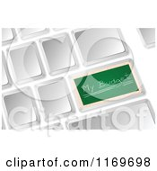 Clipart Of A 3d Computer Keyboard With A Chalkboard My Budget Button Royalty Free Vector Illustration
