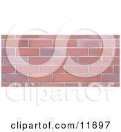 Brick Wall Background Clipart Illustration by AtStockIllustration
