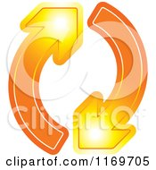 Clipart Of A Two Blue Arrows Going In A Circle Royalty Free Vector Illustration