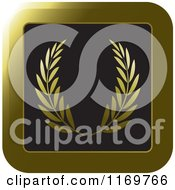 Clipart Of A Golden Olive Branch Laurel Icon Royalty Free Vector Illustration