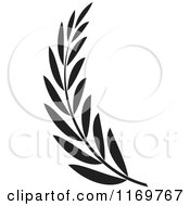 Clipart Of A Black And White Olive Branch Royalty Free Vector Illustration by Lal Perera #COLLC1169767-0106