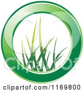 Clipart Of A Green Ring With Grass In The Center Royalty Free Vector Illustration