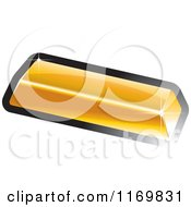 Clipart Of A Gold Bar Royalty Free Vector Illustration by Lal Perera