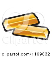 Clipart Of Gold Bars Royalty Free Vector Illustration by Lal Perera