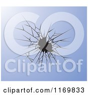 Clipart Of A Broken Glass Background Royalty Free Vector Illustration by Lal Perera