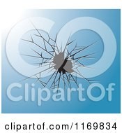 Clipart Of A Blue Broken Glass Background Royalty Free Vector Illustration by Lal Perera