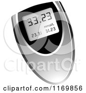Clipart Of A Medical Blood Sugar Text Meter Royalty Free Vector Illustration by Lal Perera