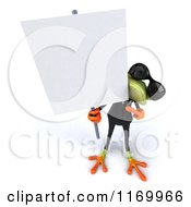Clipart Of A 3d Formal Frog Wearing Sunglasses And Holding A Sign 2 Royalty Free CGI Illustration