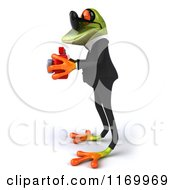 Clipart Of A 3d Formal Frog Wearing Sunglasses And Taking Pictures 3 Royalty Free CGI Illustration